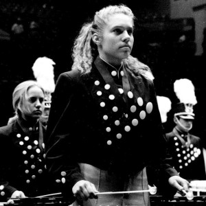 The 1994 Blue Knights Percussion Ensemble.