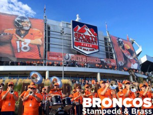 See and hear the Broncos Stampede and Broncos Brass along the race route!