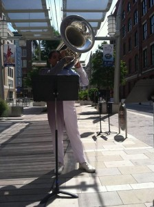 George Alarcon performing in the Tuba category